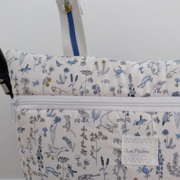 Bolsa Mini Liberty Animalitos Azul
