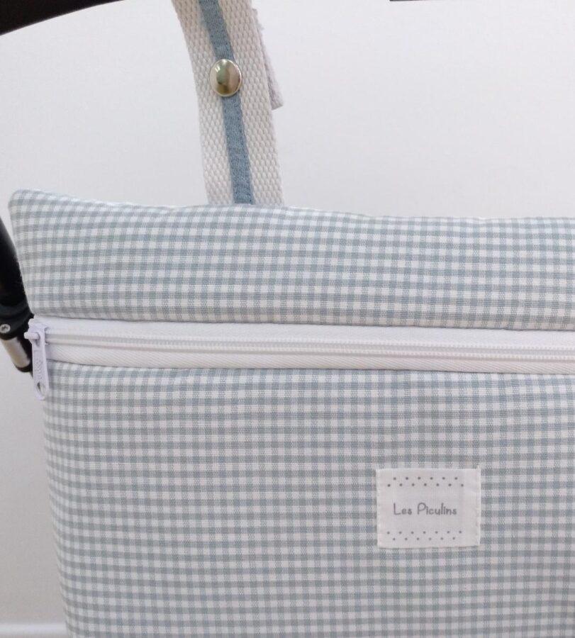 Bolsa Mini Vichy Aqua