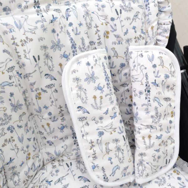Colchoneta Reversible Bugaboo Animalitos Azul